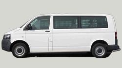 Klasse F: VW Transporter, Mercedes Vito 9-persoons