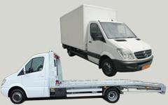 Klasse L: Mercedes-Benz Sprinter, Mercedes-Benz Sprinter oprijwagen, Ford Transit 21m3 met laadklep